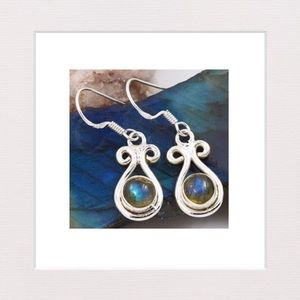 Jewelry - Lovely Labradorite and Sterling Silver Earrings